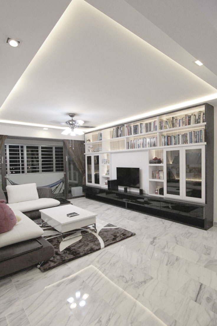 carpentry singapore feature wall