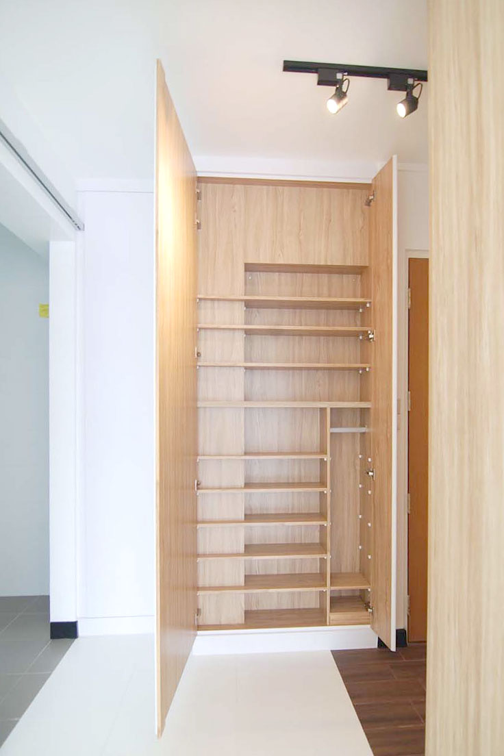 shoe cabinet carpentry singapore